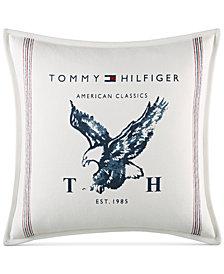"Tommy Hilfiger Heritage Eagle 18"" Square Decorative Pillow"