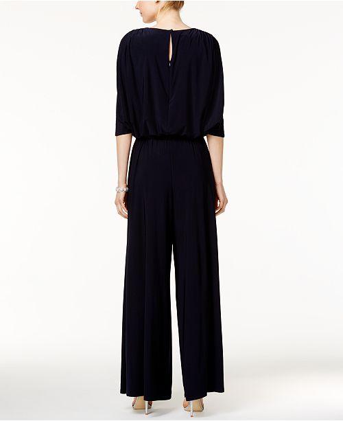 5e8bf8791ea2 MSK Embellished Cold-Shoulder Jumpsuit   Reviews - Pants   Capris ...
