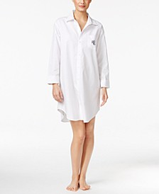 Roll-Cuff Sleepshirt Nightgown