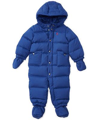Ralph Lauren Baby Boys Quilted Snowsuit Kids Amp Baby