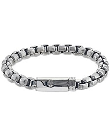 Box-Link Bracelet in Stainless Steel, Created for Macy's