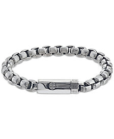 Esquire Men's Jewelry Box-Link Bracelet in Stainless Steel, Created for Macy's