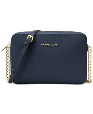 michael kors jet set east west crossgrain leather crossbody rh macys com