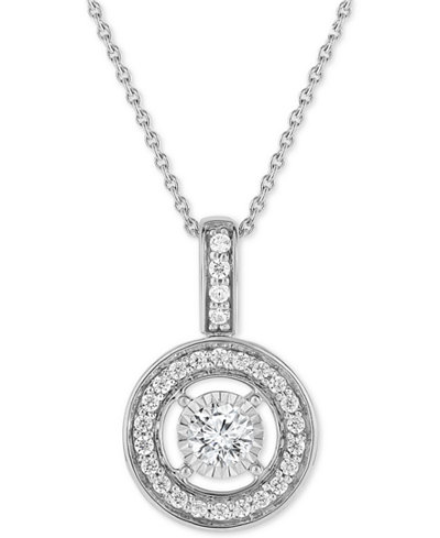 Trumiracle diamond halo pendant necklace 12 ct tw in 14k trumiracle diamond halo pendant necklace 12 ct tw in 14k aloadofball Gallery