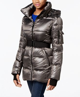 S13 Belted Shimmer Down Puffer Coat