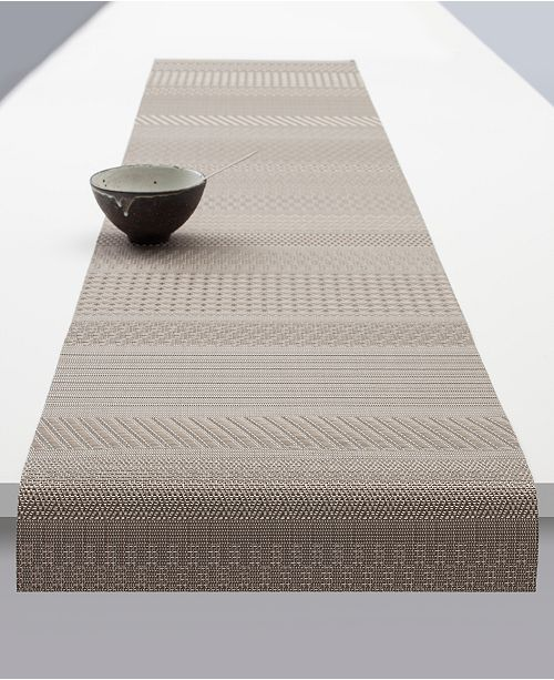 """Chilewich Mixed-Weave Luxe 72"""" Table Runner"""