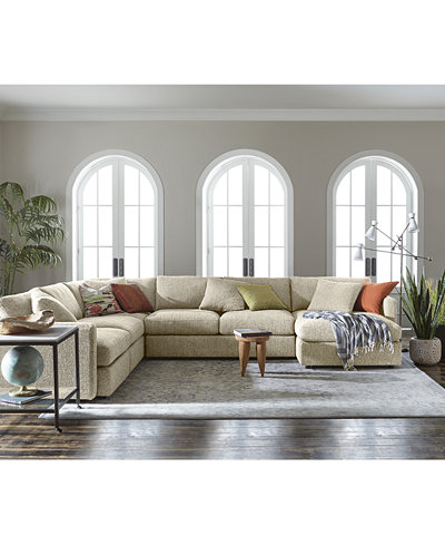 Clinton Fabric Sectional Collection, Created for Macy\'s ...