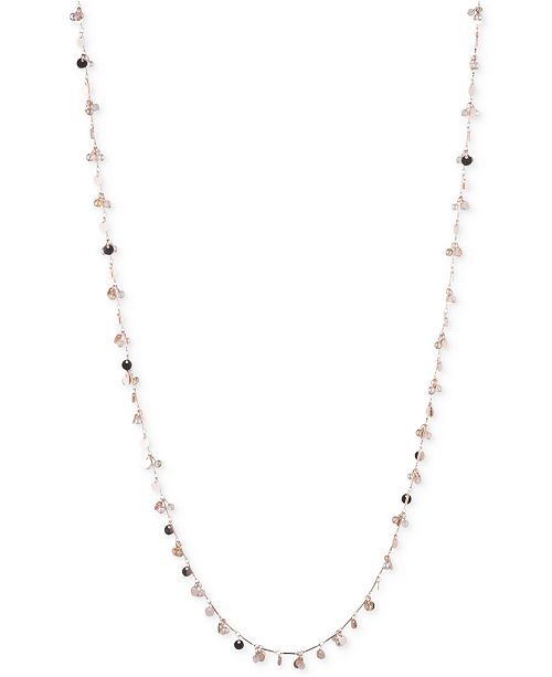 lonna & lilly Rose Gold-Tone Long Shaky Bead Necklace