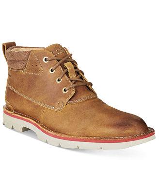 clarks s varick hill plain toe casual chukka boots