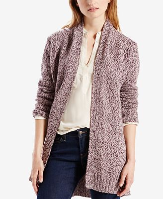 Levi's® Belted Open-Front Cardigan - Sweaters - Women - Macy's