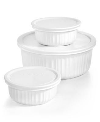 corningware french white 6pc bakeware set created for macyu0027s - Bakeware Sets