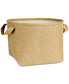 Household Essentials Round Soft-Side Burlap Basket