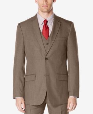 Perry Ellis Men's Classic-Fit Subtle Plaid Twill Suit Jacket