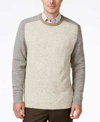 Tricots St. Raphael Men's Colorblocked Baseball Sweater