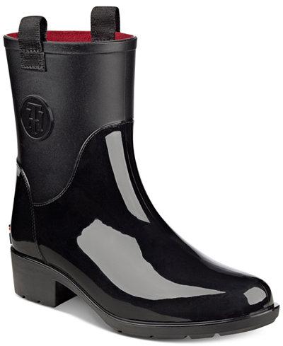 Tommy Hilfiger Khristie Rain Boots - Boots - Shoes - Macy's
