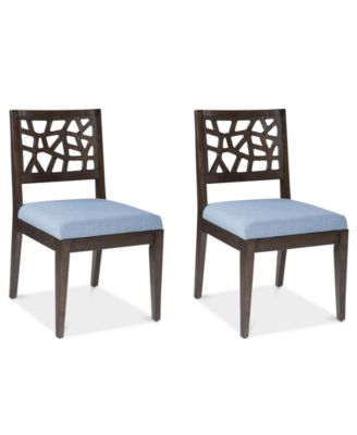 Crackle Set of 2 Dining Chairs, Quick Ship