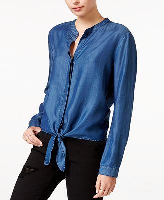 Velvet Heart Lark Chambray Tie-Front Shirt