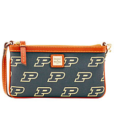 Dooney & Bourke Purdue Boilermakers Large Slim Wristlet