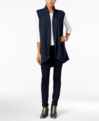 Style & Co. Shawl-Collar Sweater Vest, Created for Macy's