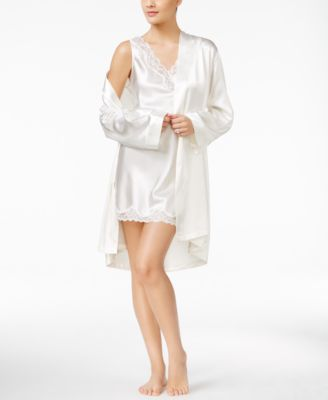 Satin Short Wrap Robe, Created for Macy's