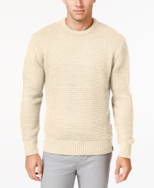 Men's Vintage Style Sweaters – 1920s to 1960s Weatherproof Vintage Mens Chunky Crew Sweater $17.99 AT vintagedancer.com