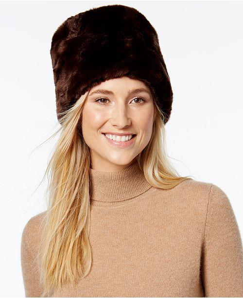 f936ec9f291 Nine West Faux-Fur Hat   Reviews - Handbags   Accessories - Macy s