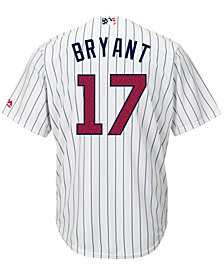Majestic Men's Kris Bryant Chicago Cubs 2016 Stars & Stripes Cool Base Jersey
