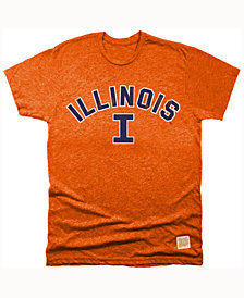 Retro Brand Men's Illinois Fighting Illini Mock Twist Team Logo T-Shirt