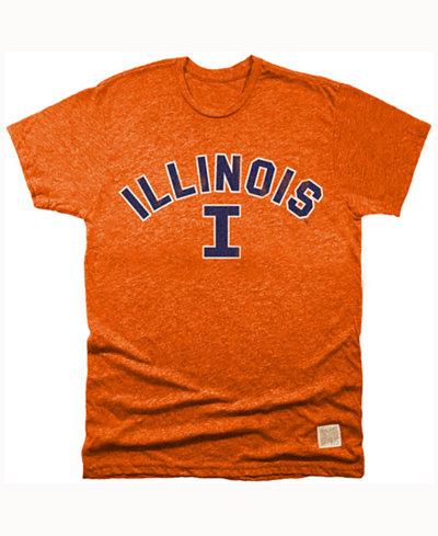 Retro Brand Men's Illinois Fighting Illini Mock Twist Team Logo T-Shirt