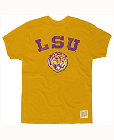 Retro Brand Men's LSU Tigers Slub Vault Logo T-Shirt