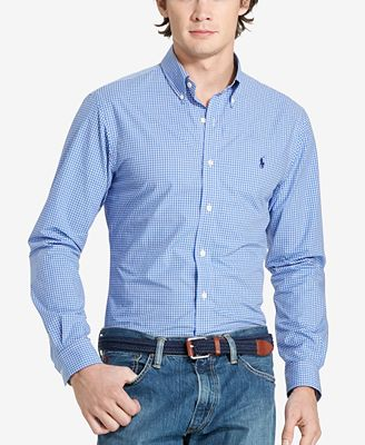 Polo Ralph Lauren Men's Checked Poplin Sport Shirt - Casual Button ...