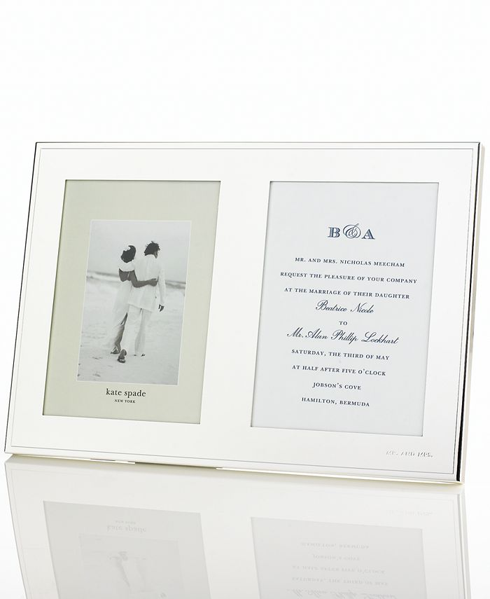"""Kate Spade - """"Darling Point"""" Double Invitation Frame"""