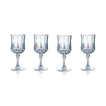 4-Set Longchamp Cristal DArques Wine Glasses