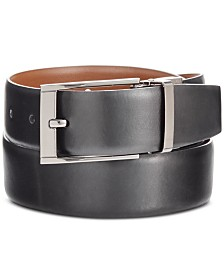 Perry Ellis Portfolio Men's Big & Tall Reversible Leather Belt