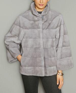 The Fur Vault Mink Fur Stand-Collar Jacket