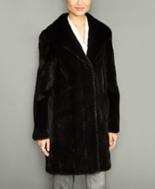 The Fur Vault Wing-Collar Mink Fur Coat