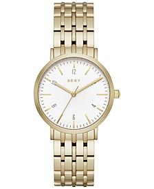 Women's Minetta Gold-Tone Stainless Steel Bracelet Watch 36mm, Created for Macy's