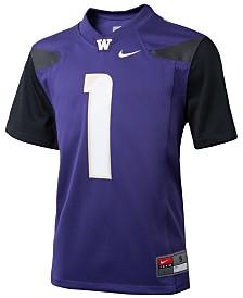Nike #1 Washington Huskies Replica Football Game Jersey, Big Boys (8-20)