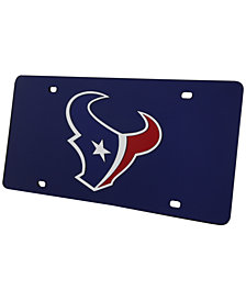 Rico Industries Houston Texans Acrylic Laser Tag License Plate Cover