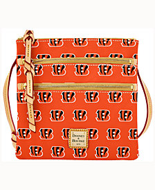 Dooney & Bourke Cincinnati Bengals Triple-Zip Crossbody Bag