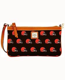 Dooney & Bourke Cleveland Browns Large Slim Wristlet