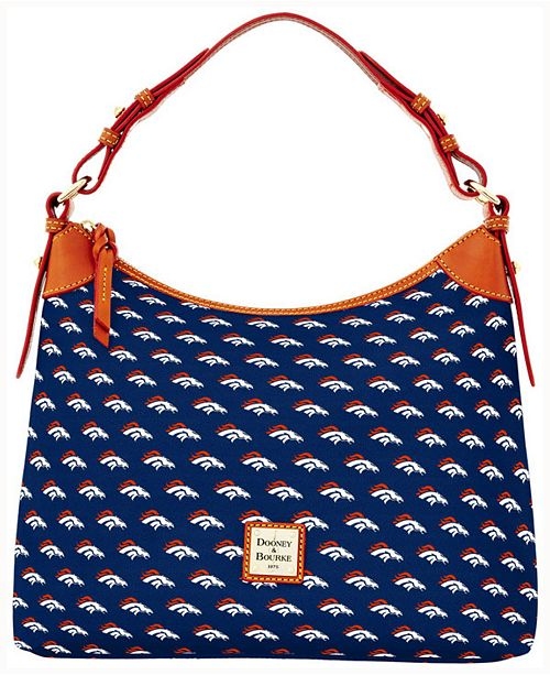 Show Your Team Spirit In Style With The Dooney Bourke Nfl Collection Hobo Bag Featuring A Relaxed Slouchy Crescent Shaped Construction This Shoulder