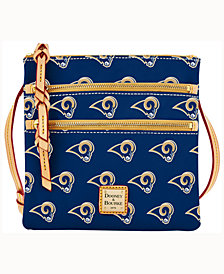 Dooney & Bourke Los Angeles Rams Triple-Zip Crossbody Bag