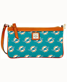 Dooney & Bourke Miami Dolphins Large Slim Wristlet