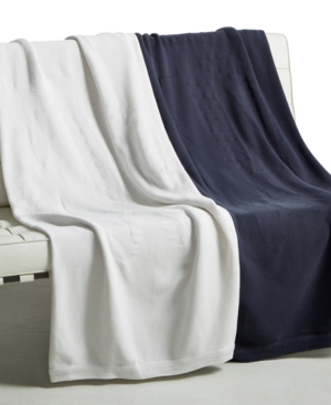 Lacoste Home Crocoknit Throw Collection Bedding