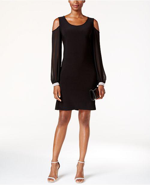 3fbb9aaec6 MSK Embellished Cold-Shoulder Cocktail Dress   Reviews - Dresses ...