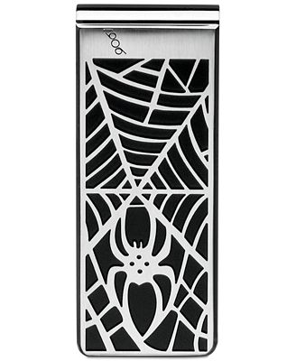 Montblanc Spider Men's Stainless Steel and Black Web Money Clip 114709