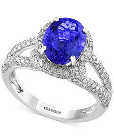 EFFY® Final Call Tanzanite (2-5/8 ct. t.w.) and Diamond (3/4 ct. t.w.) Ring in 14k White Gold