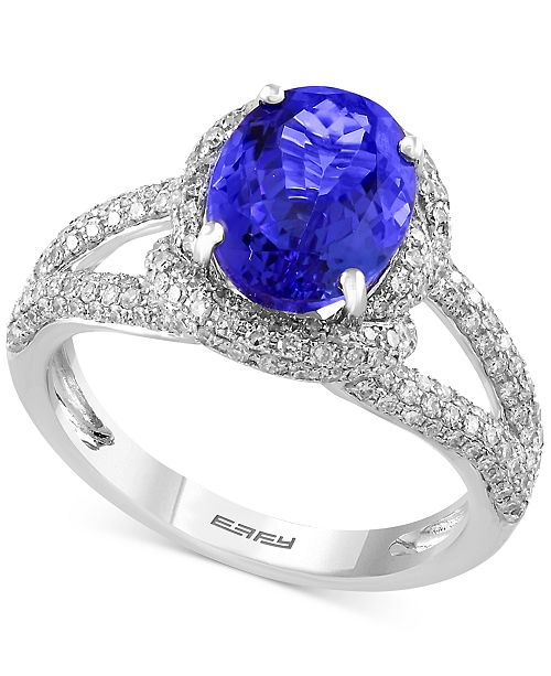 EFFY Collection EFFY® Final Call Tanzanite (2-5/8 ct. t.w.) and Diamond (3/4 ct. t.w.) Ring in 14k White Gold