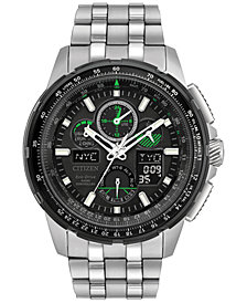 Citizen Eco-Drive Men's Analog-Digital Chronograph Skyhawk A-T Stainless Steel Bracelet Watch 47mm JY8051-59E